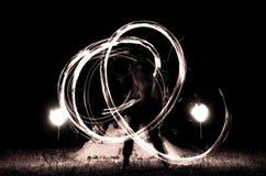 Feuershow Stockfoto