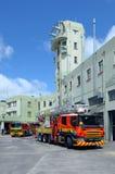 Feuerspritzen in der Auckland-Stadt-Feuerwache in Auckland neues Zeala lizenzfreie stockfotografie