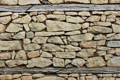 Feuerstein und Steinwand Stockbild