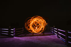 Feuerstockshow lizenzfreie stockfotos