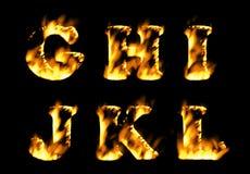 Feuertextsammlung, Alphabet der Flamme Teil 2 Stockfotografie