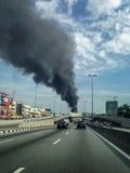 Feuertragödie in Selangor Malaysia Stockfotografie