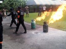 Feuertraining Stockfoto