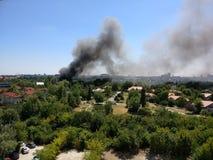Feuerunfall stockfotos