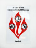 Feuerwarnungzeichen Stockfotos