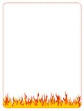 Feuerweb-Hintergrundrand stock abbildung