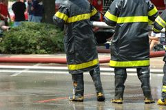 Feuerwehrmänner Stockbild