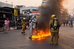 Feuerwehrmänner. Stockfotos