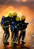 Feuerwehrmänner ein Vorfall Stockfotografie
