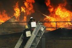 Feuerwehrmänner im Dienst stockbilder