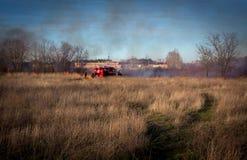 feuerwehrmänner wildfire lizenzfreies stockfoto