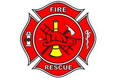Feuerwehrmannänderung am objektprogramm Stockfotografie