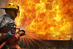 Feuerwehrmann auf Training Lizenzfreie Stockfotos