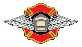 Feuerwehrmann-Erinnerungsauslegung vektor abbildung
