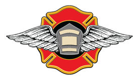Feuerwehrmann-Erinnerungsauslegung Stockfotos
