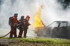 Feuerwehrmann im Training Lizenzfreie Stockfotografie