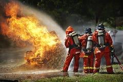 Feuerwehrmann im Training Lizenzfreies Stockbild