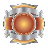 Feuerwehrmann-Kreuz mit Farbbändern Stockfotografie