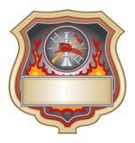 Feuerwehrmann-Schild lizenzfreie abbildung