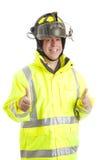 Feuerwehrmann - zwei Daumen oben Stockbild