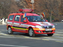 Feuerwehrmannauto Lizenzfreie Stockfotos