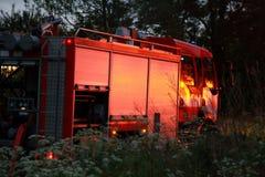 Feuerwehrmannauto Stockfoto