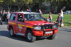 Feuerwehrmannauto Stockfotografie