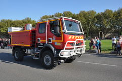 Feuerwehrmannfahrzeug Stockbild