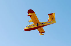 Feuerwehrmannflugzeug Stockbilder