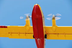 Feuerwehrmannflugzeug Lizenzfreie Stockfotografie