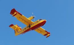 Feuerwehrmannflugzeug Lizenzfreie Stockbilder