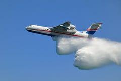 Feuerwehrmannflugzeug Stockfotografie