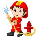 Feuerwehrmannkarikatur lizenzfreie stockbilder