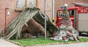 Feuerwehrmannkrippe Lizenzfreies Stockfoto