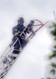 Feuerwehrmannreihe sieben von acht Stockfotos