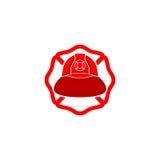 Feuerwehrmannsturzhelmlogo stock abbildung
