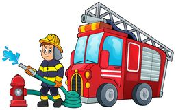 Feuerwehrmannthemabild 3 Stockbilder