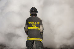 Feuerwehrmanntraining an der neuen Baltimore-Feuerwache Lizenzfreies Stockfoto