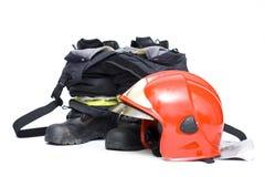 Feuerwehrmannzubehör Stockfotografie