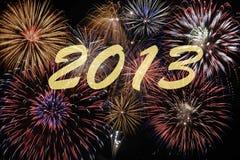 Feuerwerk 2013 Lizenzfreies Stockfoto