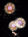 Feuerwerk auf Verdammung Stockbild