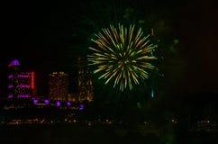 Feuerwerk bei Niagara Stockfoto