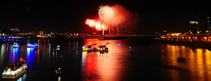 Feuerwerk bei Twatiutia (Taiwan) Stockbild