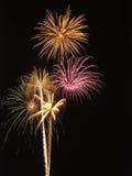 Feuerwerk-Bildschirmanzeige Lizenzfreie Stockfotos