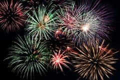Feuerwerk-Bildschirmanzeige Stockbilder