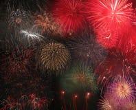 Feuerwerk-Bildschirmanzeige Stockfoto