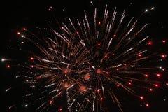 Feuerwerk-Bildschirmanzeige Stockfotos