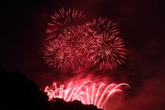 Feuerwerk-Bildschirmanzeige Lizenzfreie Stockbilder