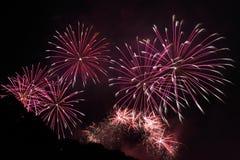 Feuerwerk-Bildschirmanzeige Stockfotografie