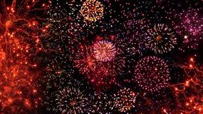 Feuerwerk-Bildschirmanzeige Stockbild